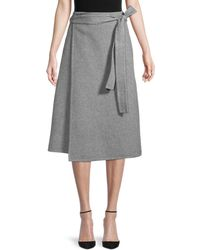 Mansur Gavriel Cashmere Wrap Skirt - Gray