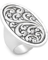 Lois Hill - Oval-shaped Repoussé Sterling Silver Ring - Lyst