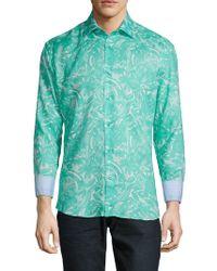 Bertigo - Floral Linen Dress Shirt - Lyst