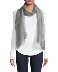 Saachi Silk & Wool-blend Scarf - Gray