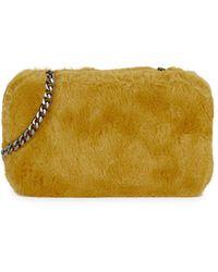 Sam Edelman Ember Faux Fur Box Shoulder Bag - Yellow