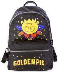 Dolce & Gabbana Golden Pig Nylon Backpack - Black