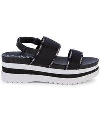 Calvin Klein Nola Platform Slingback Sandals - Black