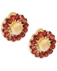 Arthur Marder Fine Jewelry Goldtone Sterling Silver, Garnet & Citrine Earrings - Multicolour