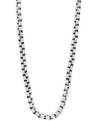 """Perepaix - Stainless Steel Wide Chain Necklace/20"""" - Lyst"""