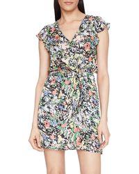 Parker Women's Floral Ruffle Silk-blend Dress - Amber Blooms - Size Xxl - Blue