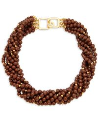 Kenneth Jay Lane Goldtone Chunky Bead Necklace - Multicolour
