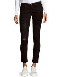Robin's Jean Distressed Skinny Jeans - Black