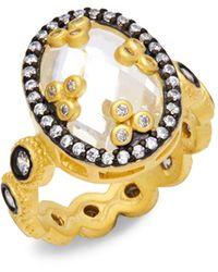 Freida Rothman Cubic Zirconia Mirror Ring - Metallic