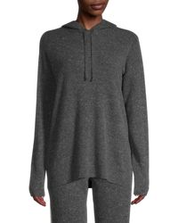 Saks Fifth Avenue Cashmere Hoodie - Gray