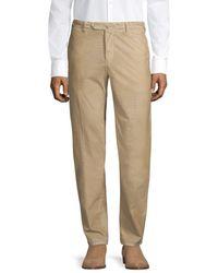 PT01 Men's Slim-fit Flat Front Baby Wale Corduroy Pants - Light Beige - Size 54 (38) - Natural