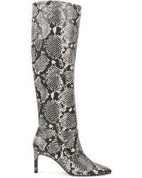BCBGeneration Women's Marlo Slouch Boots - Natural Snake - Size 6.5 - Multicolor