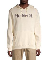 Hurley Logo Cotton-blend Hoodie - Natural