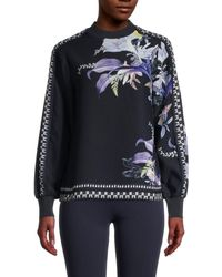 Ted Baker Caella Decadence-floral Top - Blue