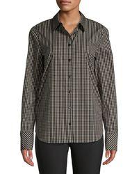 Lafayette 148 New York - Women's Scottie Grid-print Blouse - Black Multi - Size Xs - Lyst