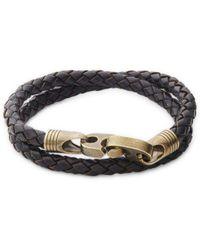 Saks Fifth Avenue - Braided Leather Wrap Bracelet - Lyst