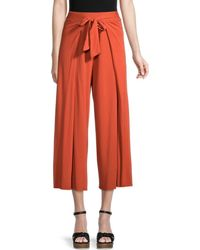 Michael Stars Women's Clarissa Cropped Wide-leg Trousers - Admiral - Size Xs - Red