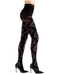 Natori Feathers Opaque Tights - Black