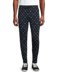 Greyson Men's Printed Sequoia Lounge Trousers - Shepherd Combo - Size Xxl - Blue