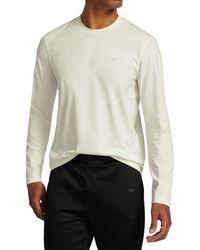 Emporio Armani Men's Long-sleeve T-shirt - Bianco - Size Xl - White