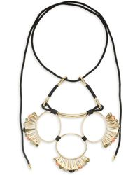 Alexis Bittar 10k Goldplated, Mother-of-pearl, Hematite & Faux Pearl Statement Necklace - Multicolour