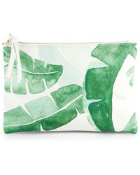Saks Fifth Avenue - Leaf-print Pouch - Lyst