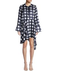 Mother Of Pearl April Asymmetrical Shirtdress - Blue