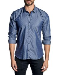 Jared Lang - Contrast Printed Button-down Shirt - Lyst