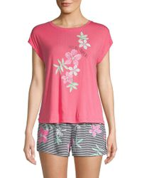 Hue - 2-piece Graphic Shorty Pajama Set - Lyst