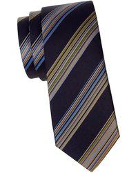 Missoni Thick Stripe Silk Tie - Blue
