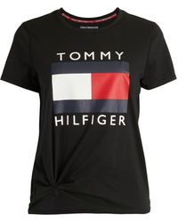 Tommy Hilfiger Logo Short Sleeve T-shirt - Black