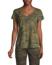 Sanctuary Camouflage-print Cotton-blend Tee - Green
