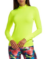 Terez Neon Mockneck Long-sleeve Tee - Green