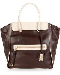 Badgley Mischka - Josett Cambridge Leather Top Handle Bag - Lyst