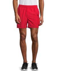 Y-3 Cargo-pocket Swim Shorts - Red