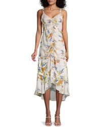 Parker Melody Floral Ruched Dress - Multicolour