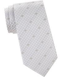 Armani - Logo Silk Tie - Lyst