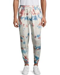 Trunks Surf & Swim Men's Tie-dyed French Terry Jogger Pants - Coral - Size M - Multicolor