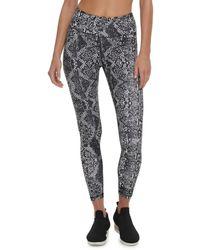 DKNY Snakeskin-print Leggings - Black