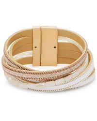 Panacea - Multi-wrap Leather Bracelet - Lyst