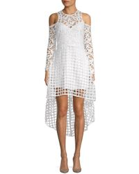 Alexia Admor - Cold-shoulder High-low Lace Dress - Lyst