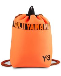 Y-3 Logo Drawstring Backpack - Orange