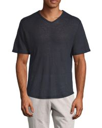 Vince - Raw Edge Linen T-shirt - Lyst
