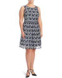 Julia Jordan - Plus Printed Fit & Flare Dress - Lyst