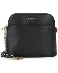 Furla Miky Crossbody Leather Pouch - Black