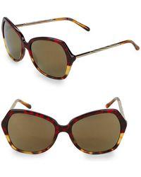 Burberry - Hava Multi-tone Tortoiseshell 57mm Butterfly Sunglasses - Lyst
