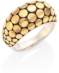 John Hardy - Dot 18k Yellow Gold & Sterling Silver Ring - Lyst