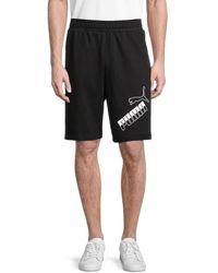 PUMA Men's Big Logo Shorts - Black - Size L