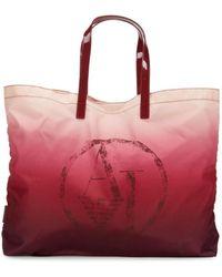 Armani Jeans Logo Ombre Tote - Red