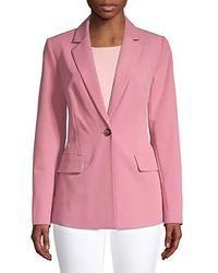 Donna Karan Classic Notch Jacket - Pink